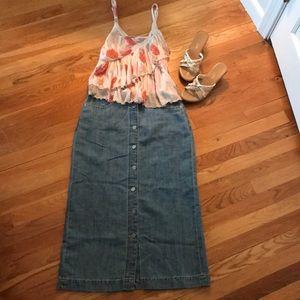 Gap Long Denim Skirt